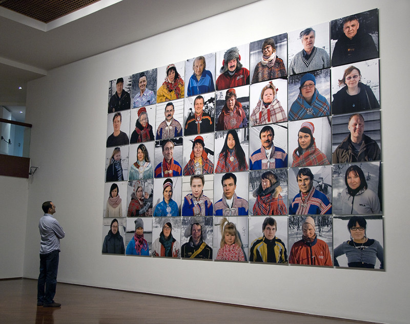 Sámi, 2011. Lamda print mounted on dibond. 40 pieces poliptych. 420 x 675 cm