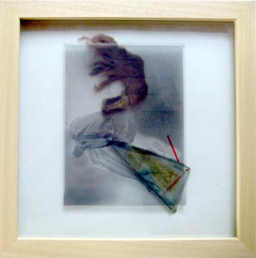 ADHEZE, negativ 1983, assemblage 1993, 35.5 x 35.5 cm