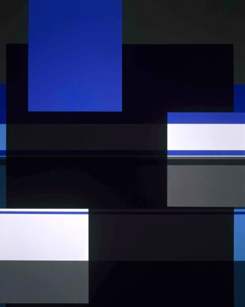 Criss Cross Geometry, 2004.  127 x 101,6 cm