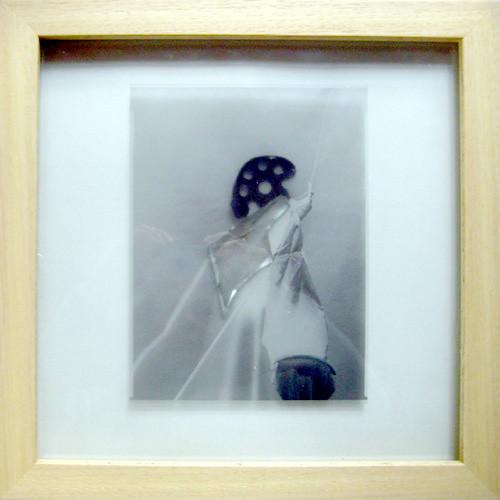 ADHEZE, negativ 1991, assemblage 1991, 35.5 x 35.5 cm