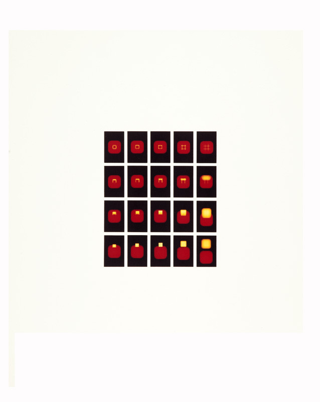 Mechano optische Untersuchung Serie 14.1974. 50 x 40 cm
