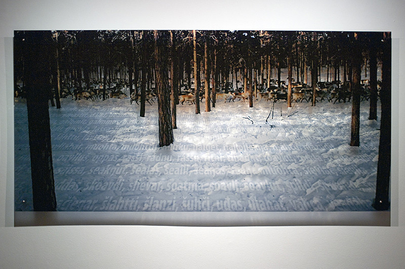 N8, 2011. 187 snows series. Ink print on 2 mm flexible metacrylate. 100 x 150 cm