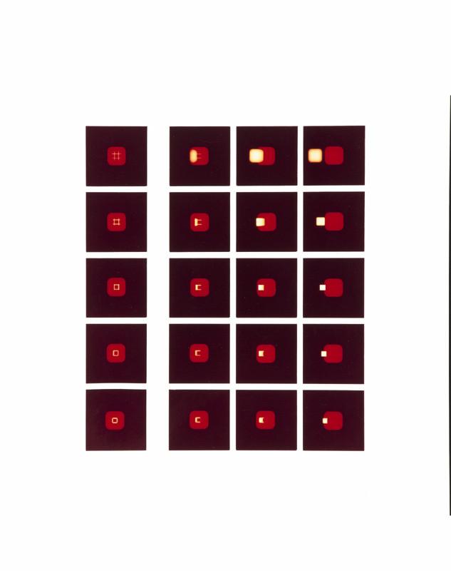Mechano optische Untersuchung Serie 14.1. 1974. 50 x 40 cm