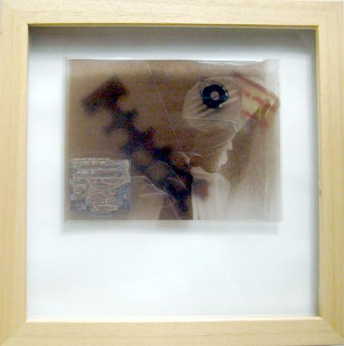 ADHEZE, negativ 1986, assemblage 1990, 35.5 x 35.5 cm