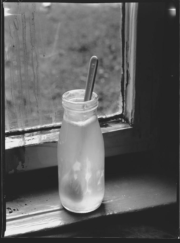 Milchflasche im Fenster, 1984