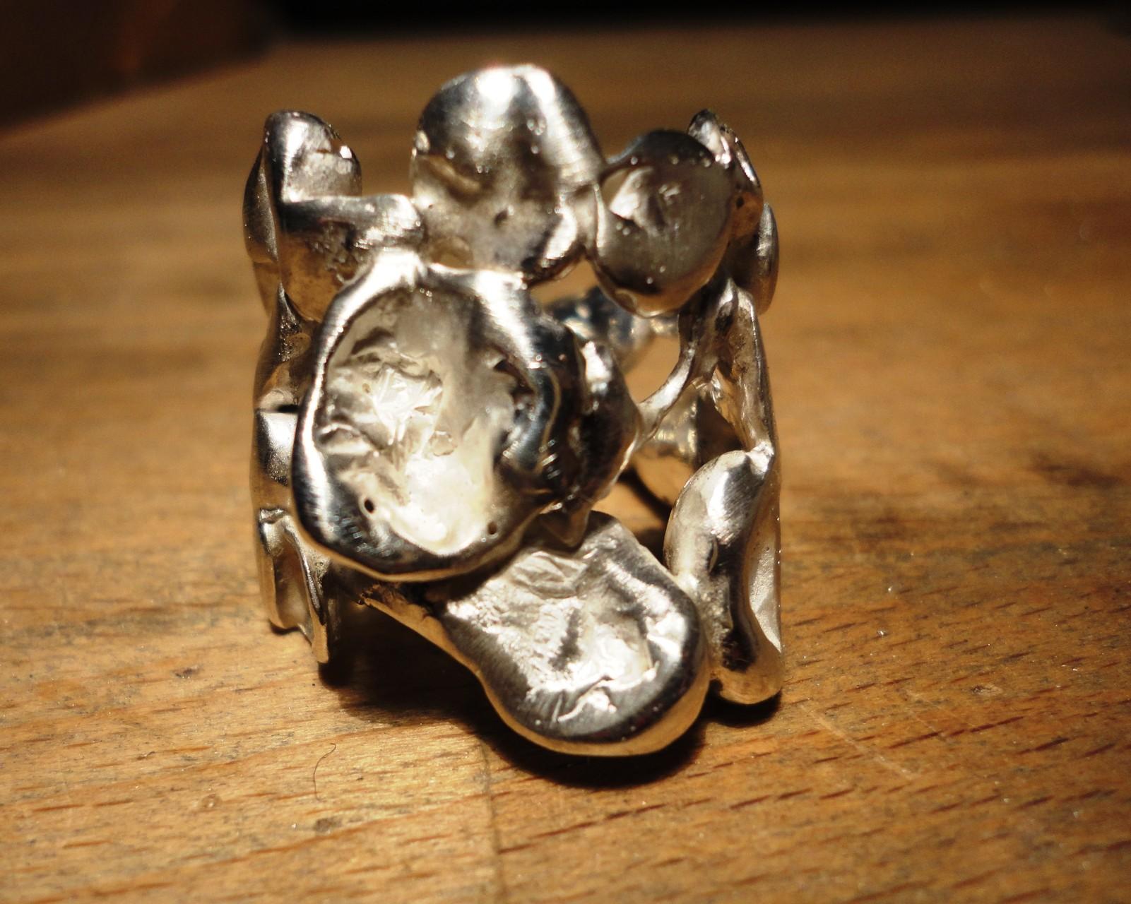 Silber-Nugget Ring (925 Sterlingsilber) Preis: CHF 250.-