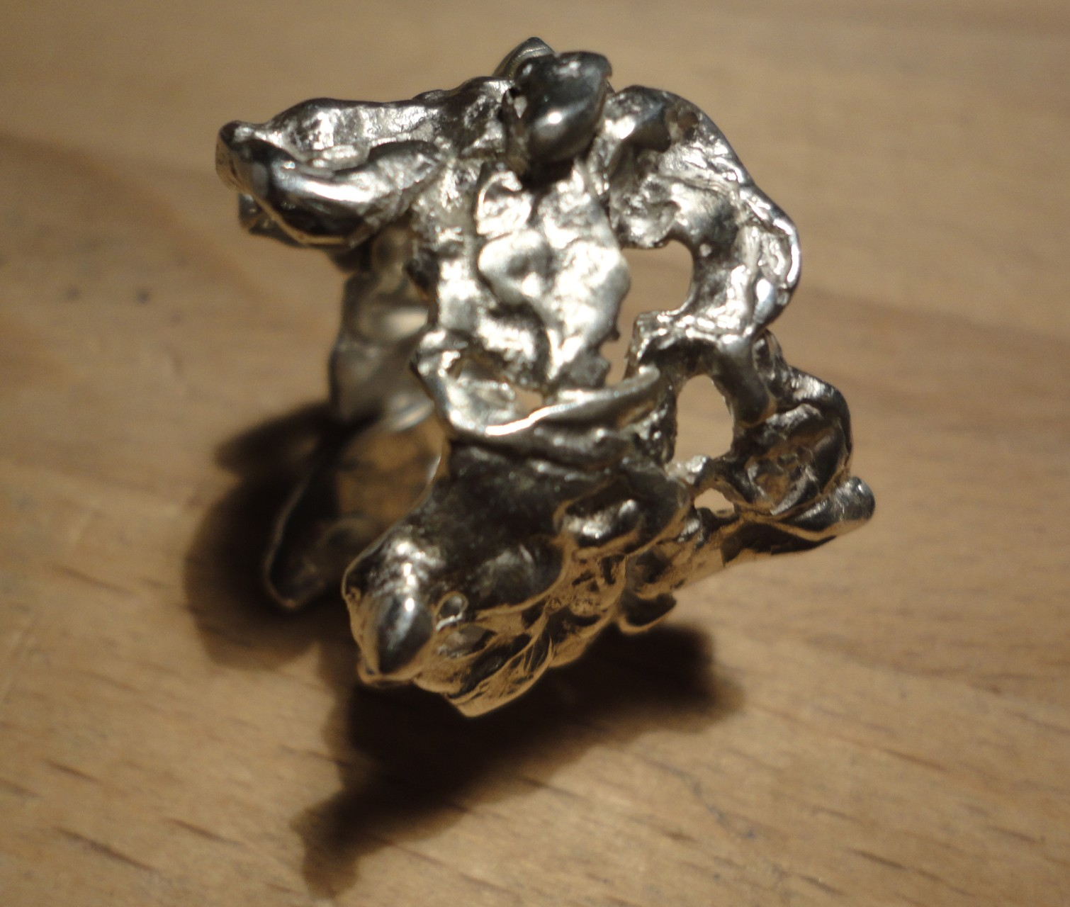 Silber-Nugget Ring (925 Sterlingsilber) Preis: CHF 350.-