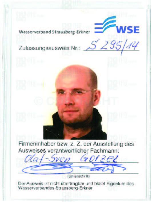 Zulassungsausweis WSE