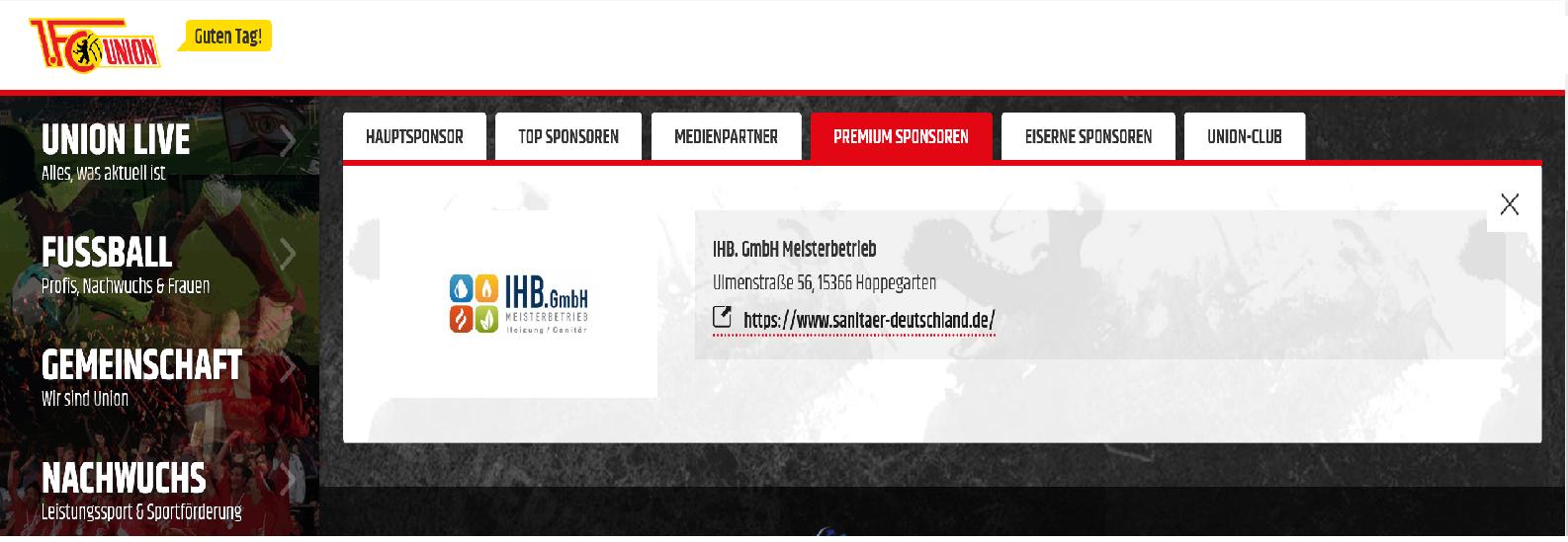Premium Sponsoren - 1. FC Eisern Union