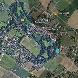 Vue aérienne situation habitat participatif à Fourquevaux