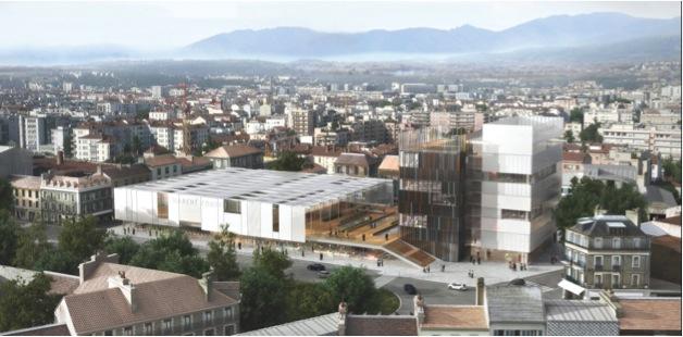 Projet de Centre Ville de PAU - Nouvelles halles axono