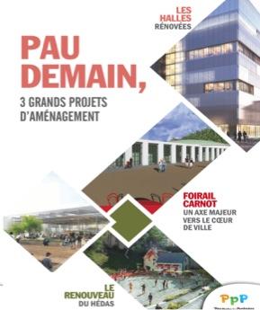 Projet de Centre Ville de PAU - 3 projets