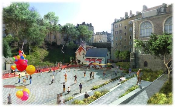 Projet de Centre Ville de PAU - Nouvelle place Recabordes