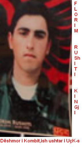 Florim Rrahmani Rashiti Medvegjë U lind më 2 prill 1979 dhe sistemohet në radhët e UÇK-së në Brigadë 128 dhe bie dëshmorë me26 maj 1999