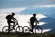 Même en vélo sur les crêtes