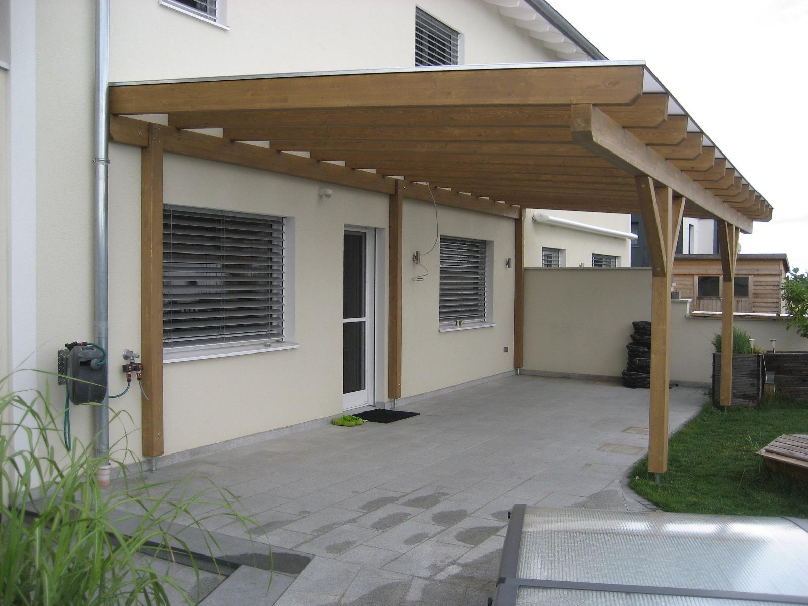 Terrassenüberdachung mit Thermoclear-Stegplatten