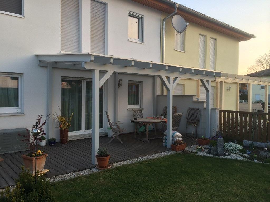 Terrassenüberdachung mit Thermoclear- Stegplatten