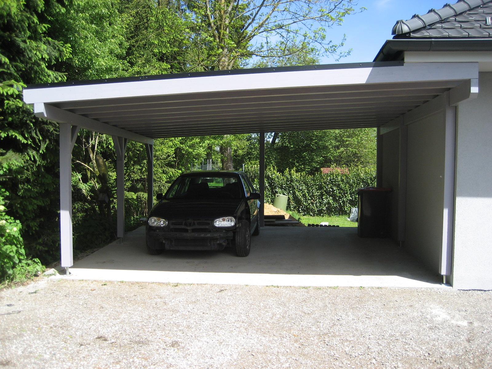 Carport in Pultdachausführung und Dacheindeckung mit Resitrix EPDM Dachfolie