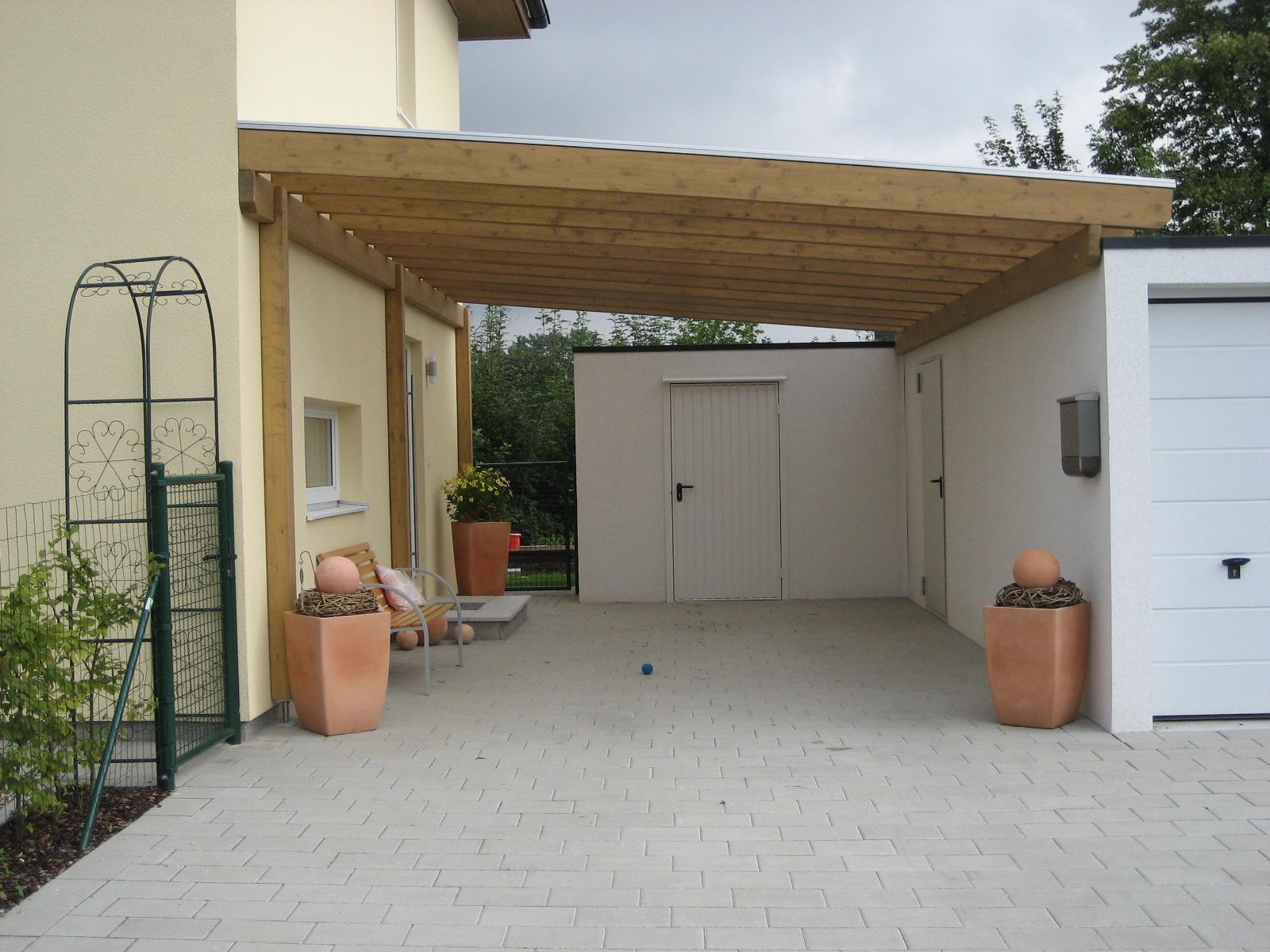 Carport mit Thermoclear Stegplatten