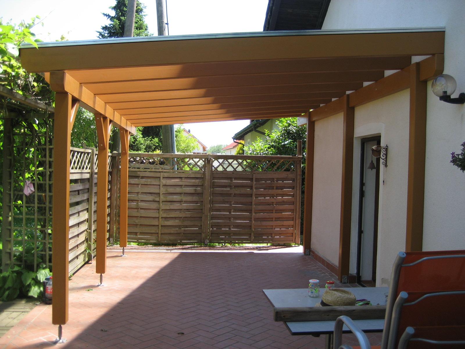 Terrasseüberdachung mit Thermoclear-Stegplatten
