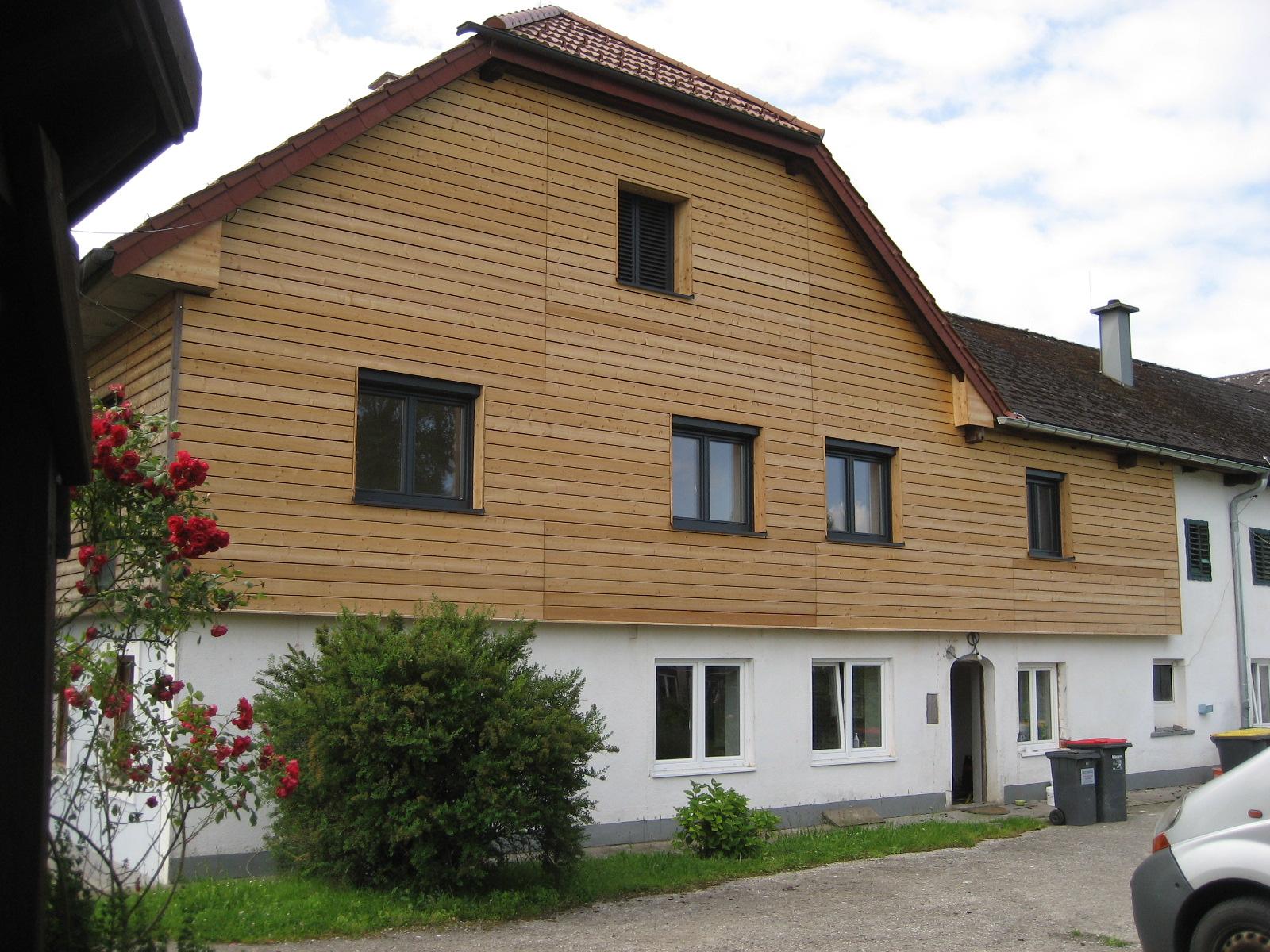 Fassadenschalung Rhombusprofil