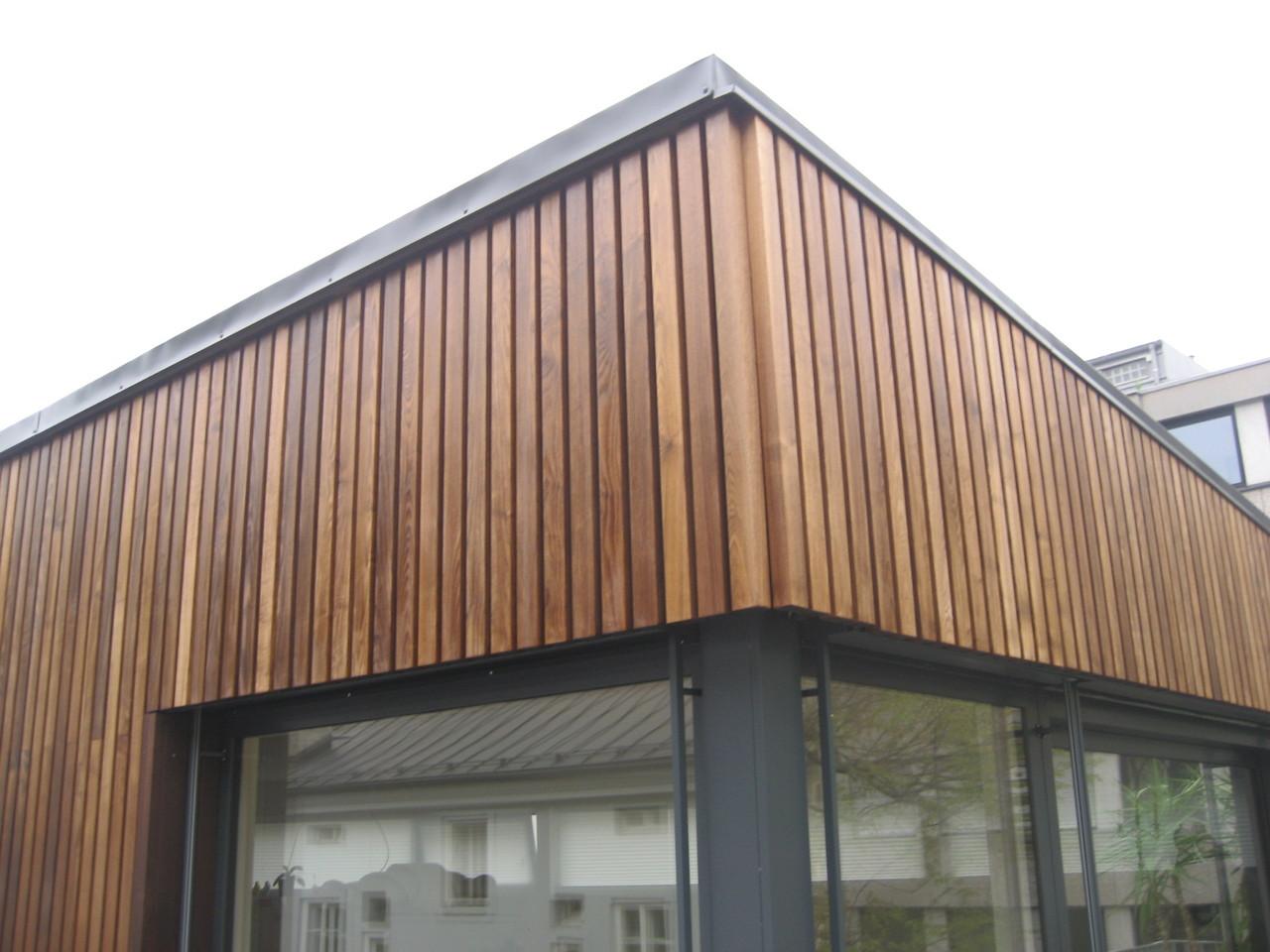 Fassadenverschalung Thermo Esche Staffeln