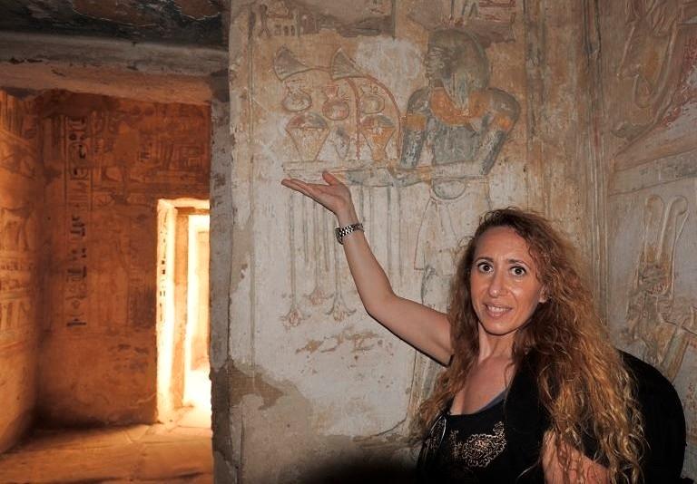 EGITTO sacrario del tempio di Abu Medinat