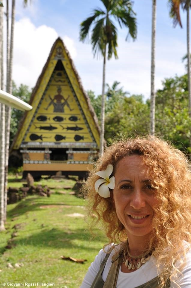 MICRONESIA capanna tradizionale