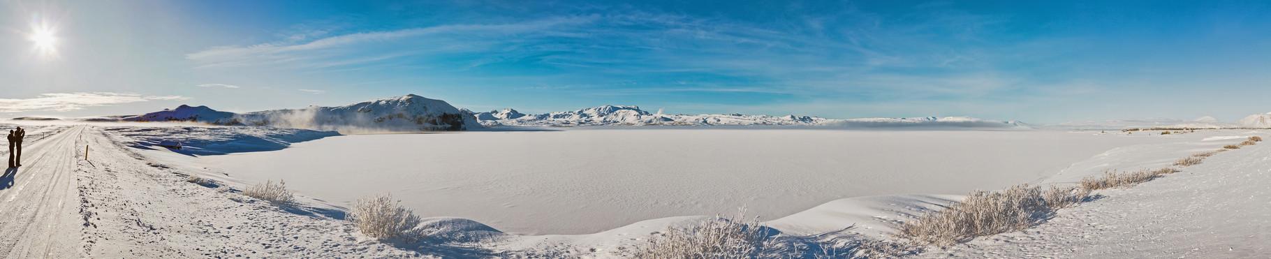 Der gefrorene See - Island