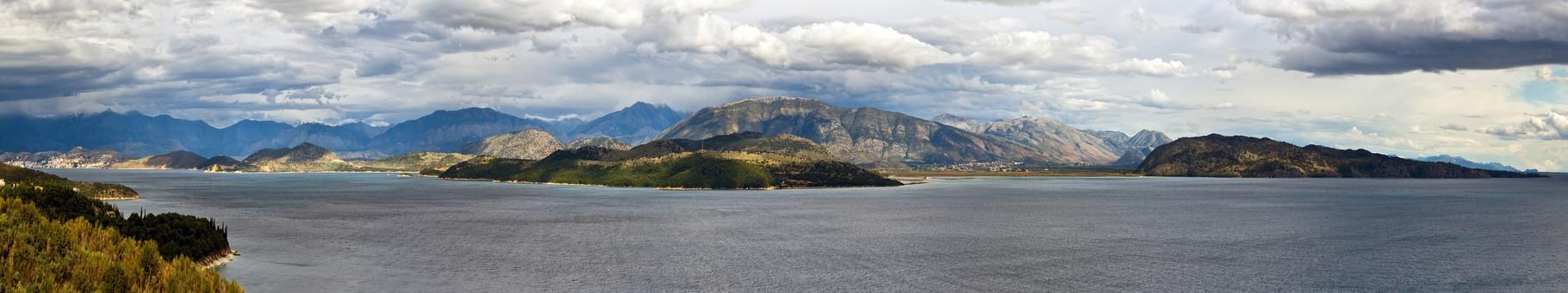 Blick nach Albanien - Korfu - Griechenland