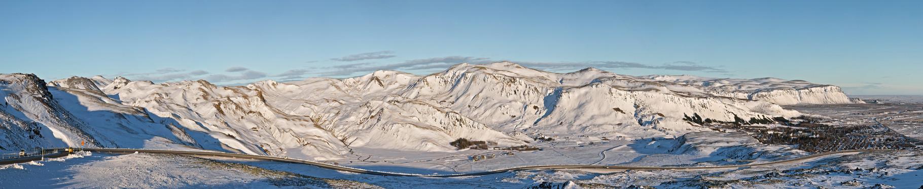 Blick aufs Hochland - Island