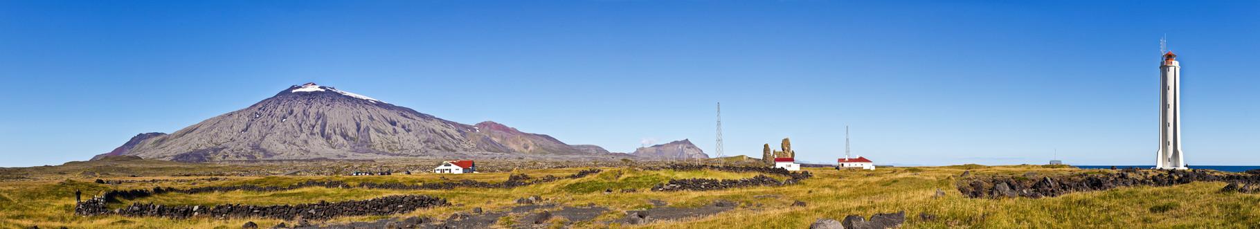 Malariff lighthouse mit Snaefellsjökull - Island