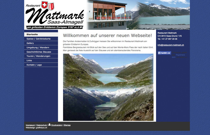 Restaurant Mattmark, Saas-Almagell