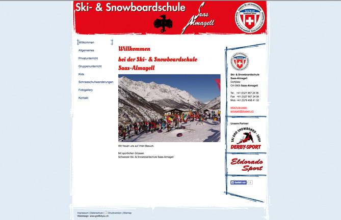 Ski- & Snowboardschule, Saas-Almagell