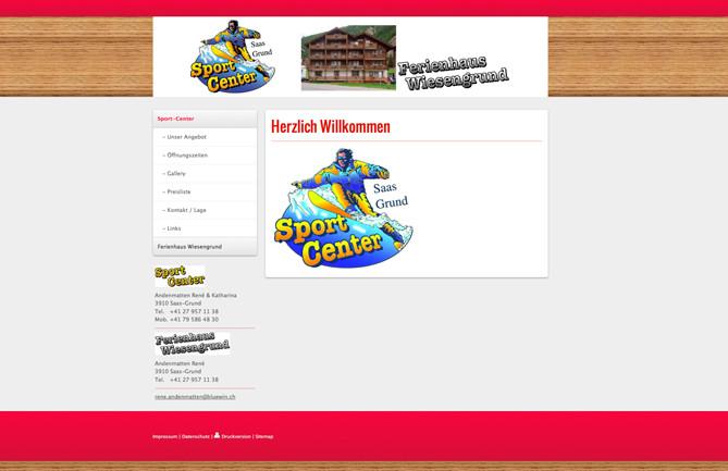 Sport Center & Haus Wiesengrund, Saas-Grund