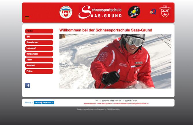 Schneesportschule, Saas-Grund