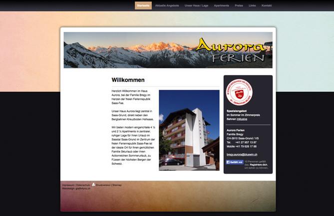 Ferienhaus Aurora, Saas-Grund