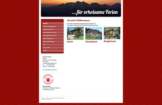 Ferienhäuser Amici, Abendstern & Bergheimat, Saas-Almagell