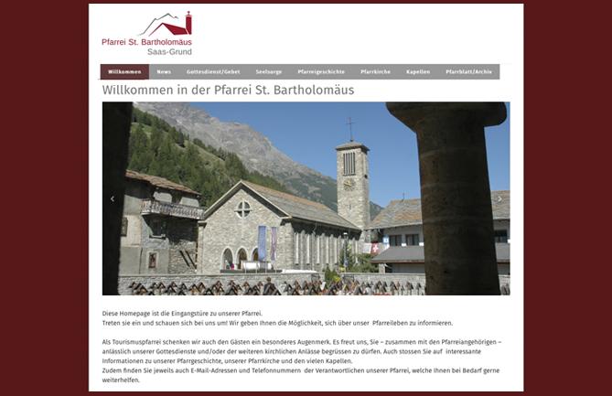 Pfarrei St. Bartholomäus, Saas-Grund