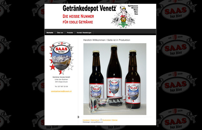 Getränke Venetz, Saas-Bier, Saas-Grund
