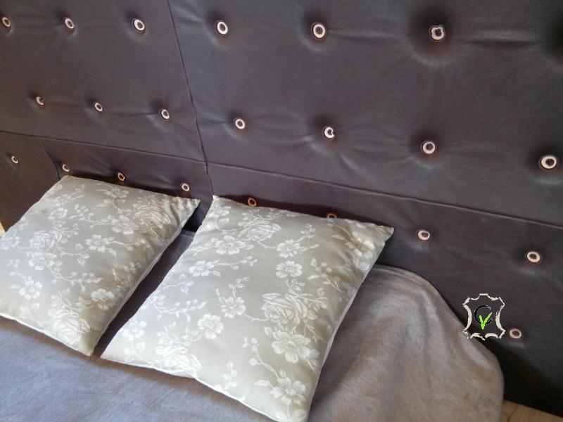 Tête de lit en cuir tannage végétal couleur chataigne 180 x 100 x 8 cm