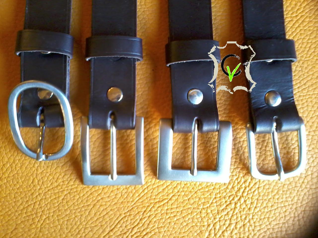 ceintures en cuir tannage végétal brun 30mm