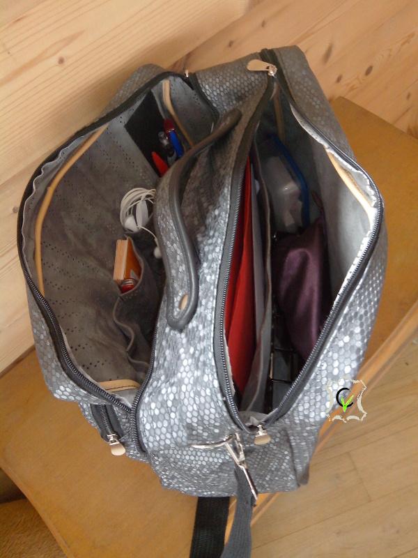 sacoche de travail, deux compartiments intérieurs