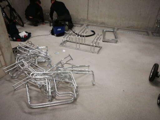 Fahrradständer montieren