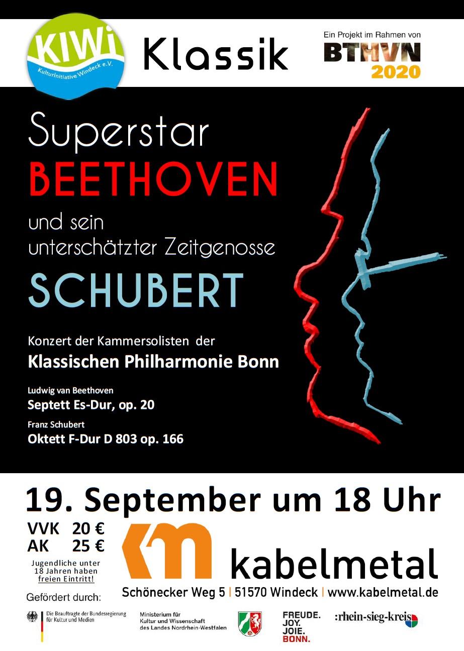 19.09.2021 - 18 Uhr - KIWi-Klassik - Superstar Beethoven und sein unterschätzter Zeitgenosse Schubert