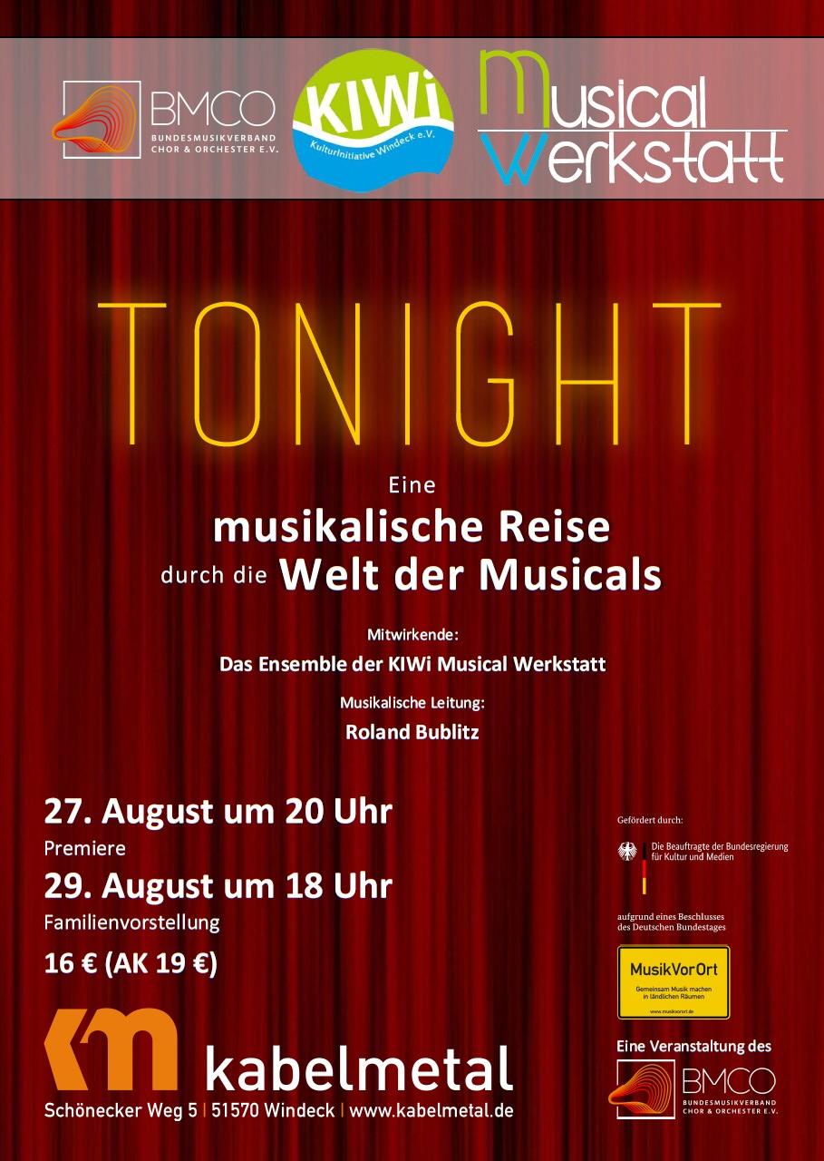 27.08.2021 - 20 Uhr - KIWi-Musical-Werkstatt