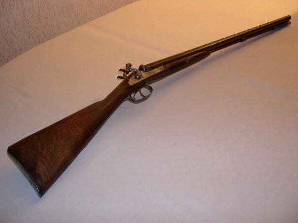 LORENZONI, fusil libre à percussion- canon lisse - un coup, tous calibres, tir de 25 plateaux depuis 5 postes en 60 minutes (Origine et Réplique).