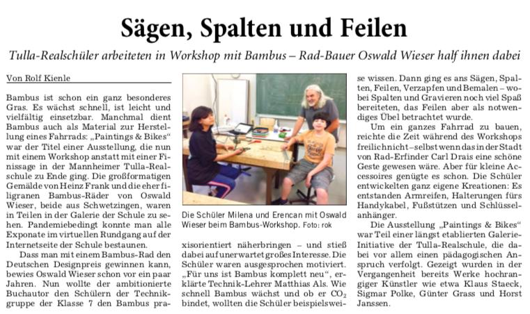 Bambusworkshop mit Oswald Wieser