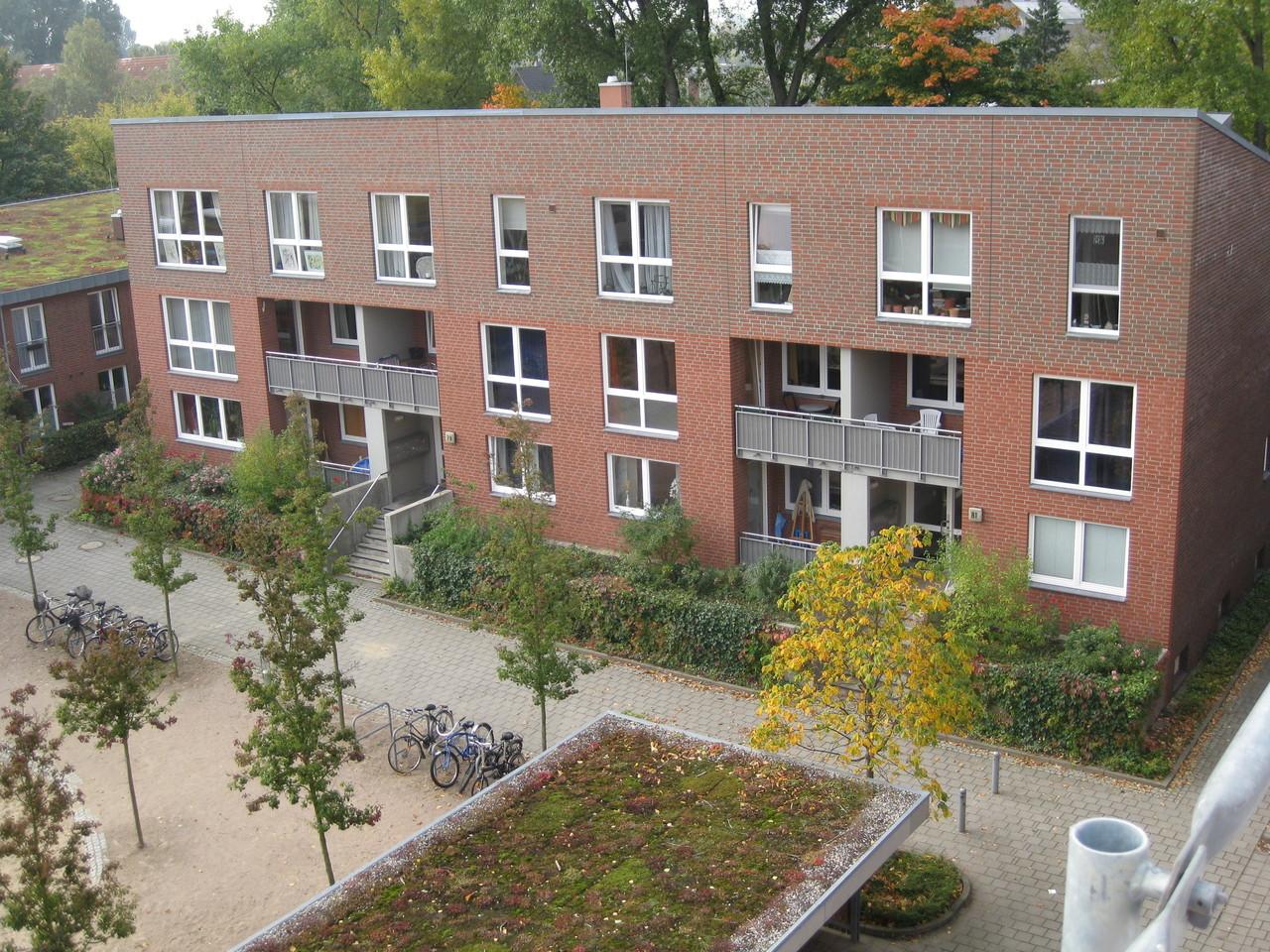 Wohnblock, Lackierung der Fenster und Holztüren/Balkon 1