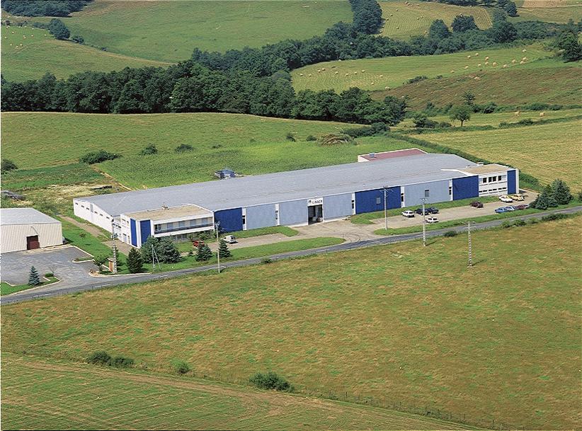 Prise de vue aérienne de l'usine de Saint Marcel de Félines